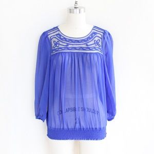 Daniel Rainn Cobalt Blue Blouse
